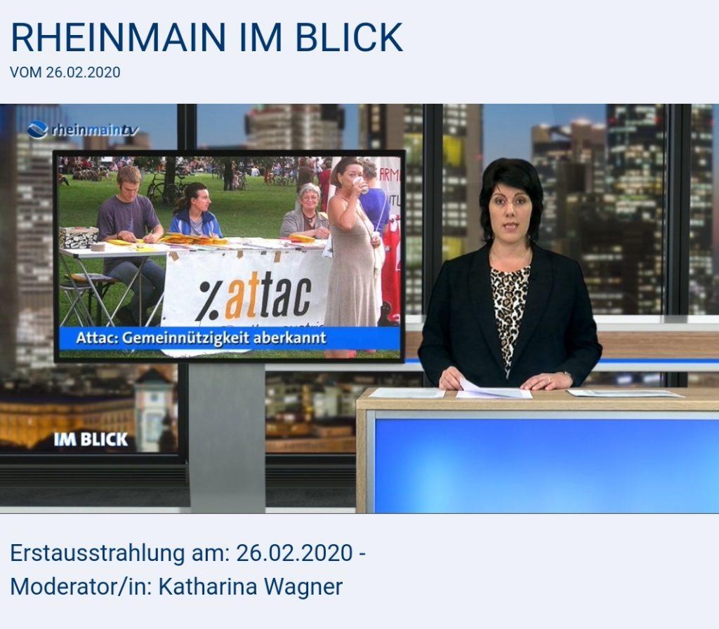 """Katharina Wagner, Moderation """"rheinmain IM BLICK"""" am 26. Februar 2020."""